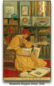 Elisabeth Shippen Green, The library  1905