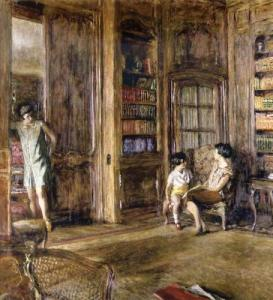 Jean Edouard Vuillard, In the Library
